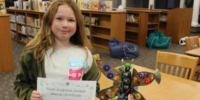 SLES Trash Sculpture winner