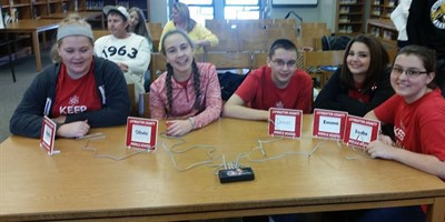 LCMS Quick Recall Team at Regional Governor's Cup competition.