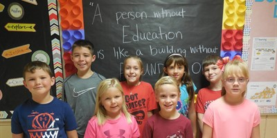 Congrats to the NLES August Student Leaders of the Month: Mason Hargrove, Sadi Gandee, Adriel Barnes, Braiden Jackson, Ty Williams, Nyxxan Logsdon, Bode Ramage, and Adalynn King